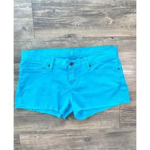 LUCKY BRAND TEAL SHORTS SIZE 32